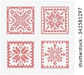 set of tiles  scandinavian... | Shutterstock .eps vector #342581297