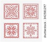set of tiles  scandinavian... | Shutterstock .eps vector #342581297