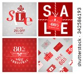 christmas sale posters and... | Shutterstock .eps vector #342586193