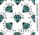 old school tattoos diamond... | Shutterstock .eps vector #342589343