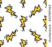 old school tattoos lightning... | Shutterstock .eps vector #342589463