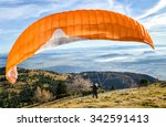 Paraglider Is Starting  To...