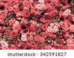 Abstract Background Of Flowers...