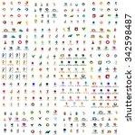 logo huge mega collection ...   Shutterstock .eps vector #342598487