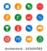 volleyball flat icons for media | Shutterstock .eps vector #342604583