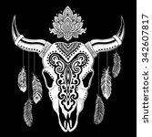 vector tribal animal skull... | Shutterstock .eps vector #342607817