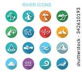 river long shadow icons  flat