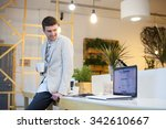 programmer have coffee break in ...   Shutterstock . vector #342610667