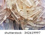 natural quartz crystals in the...   Shutterstock . vector #342619997
