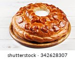 russian wedding round loaf... | Shutterstock . vector #342628307