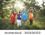 child children childhood fun... | Shutterstock . vector #342636353