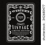 vintage frame border western... | Shutterstock .eps vector #342680477