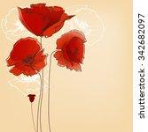 flower background for greeting... | Shutterstock .eps vector #342682097