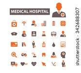 hospital  medicine  icons ... | Shutterstock .eps vector #342688307