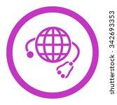 global medicine vector icon.... | Shutterstock .eps vector #342693353