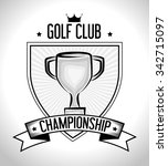golf club sport game graphic... | Shutterstock .eps vector #342715097