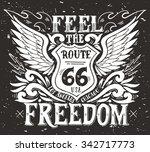 feel the freedom. route 66....   Shutterstock .eps vector #342717773