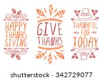 thanksgiving elements. hand... | Shutterstock .eps vector #342729077