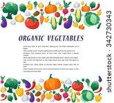 vegetables background in flat... | Shutterstock . vector #342730343