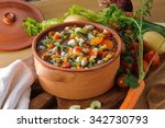vegetable soup | Shutterstock . vector #342730793