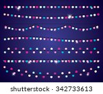 holiday winter lights garlands. ... | Shutterstock .eps vector #342733613