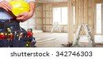 builder handyman with...   Shutterstock . vector #342746303