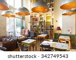 interior of a modern restaurant ... | Shutterstock . vector #342749543