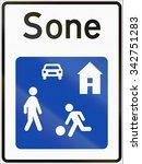 norwegian road sign   living... | Shutterstock . vector #342751283