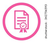 certified vector icon. style is ... | Shutterstock .eps vector #342756593