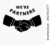 we are partners. two business... | Shutterstock .eps vector #342761477
