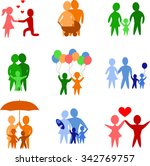 set of colorful family... | Shutterstock .eps vector #342769757