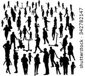 set of people. children  adults ... | Shutterstock . vector #342782147