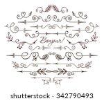 artist vintage hand drawn... | Shutterstock .eps vector #342790493