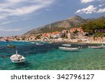promenade of bol on brac island ... | Shutterstock . vector #342796127