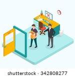 boss dismissed employee.  | Shutterstock . vector #342808277