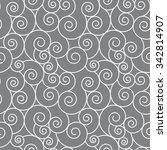 vector seamless pattern with... | Shutterstock .eps vector #342814907