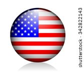 usa glossy icon   Shutterstock .eps vector #342822143