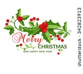 christmas and new year card... | Shutterstock .eps vector #342823913