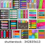 colorful modern text box... | Shutterstock .eps vector #342835613