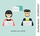 support call center  male and... | Shutterstock .eps vector #342840167