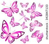 butterflies design | Shutterstock .eps vector #342847133