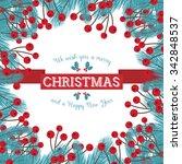 christmas card design | Shutterstock .eps vector #342848537