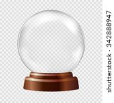 empty snow globe. big white... | Shutterstock .eps vector #342888947