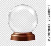 empty snow globe. big white... | Shutterstock .eps vector #342888947