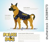 Smart Police Dog In Uniform....