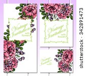 wedding invitation cards with... | Shutterstock .eps vector #342891473