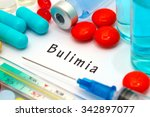 bulimia   diagnosis written on... | Shutterstock . vector #342897077
