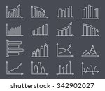 set of minimal line icons of... | Shutterstock .eps vector #342902027