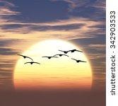 3d illustration of sunrise | Shutterstock . vector #342903533