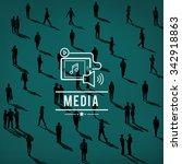 media social networking... | Shutterstock . vector #342918863